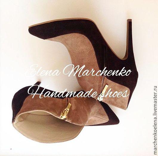 Обувь ручной работы. Ярмарка Мастеров - ручная работа. Купить Ботильоны. Handmade. Коричневый, ботильоны, туфли ручной работы