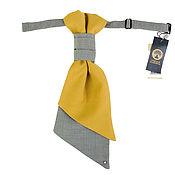 Аксессуары ручной работы. Ярмарка Мастеров - ручная работа галстук-регат  Горчица. Handmade.