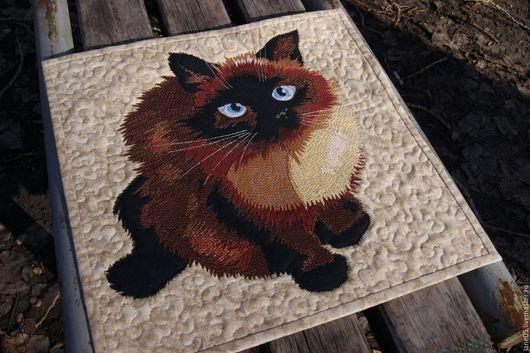 """Животные ручной работы. Ярмарка Мастеров - ручная работа. Купить Панно """"Моя кошка Руфа"""". Handmade. Панно на стену"""
