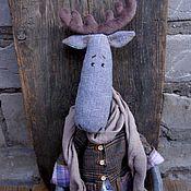 Куклы и игрушки ручной работы. Ярмарка Мастеров - ручная работа Макс..текстильный лось...лось тильда... Handmade.