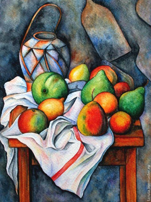 Рисунок `Натюрморт с фруктами`  (по мотивам П. Сезанна)