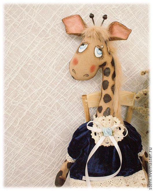 Ароматизированные куклы ручной работы. Ярмарка Мастеров - ручная работа. Купить Жирафа Любаша. Handmade. Тёмно-синий, ароматизированная кукла