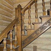 лестница деревянная резная