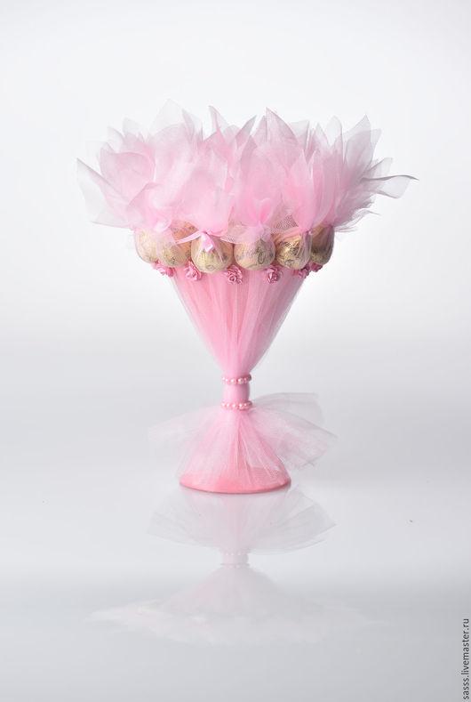 """Персональные подарки ручной работы. Ярмарка Мастеров - ручная работа. Купить Букет из конфет  """"Морганитка"""". Handmade. Розовый, сладкий подарок"""