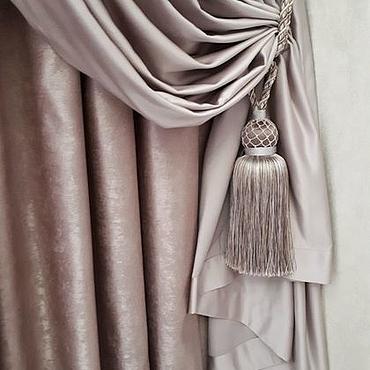 Для дома и интерьера ручной работы. Ярмарка Мастеров - ручная работа Розовые шторы для спальни. Handmade.