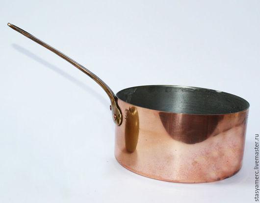Винтажная посуда. Ярмарка Мастеров - ручная работа. Купить Ковш кастрюля сотейник медный. Handmade. Ковш, кухонный интерьер, олово