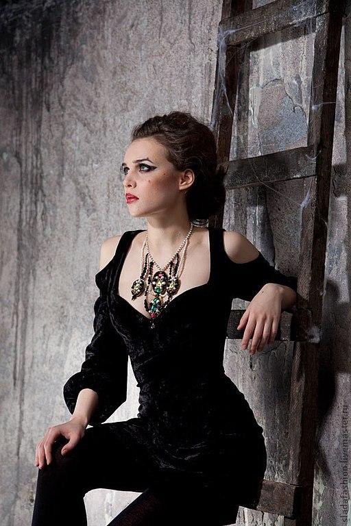 Платья черный бархат фото