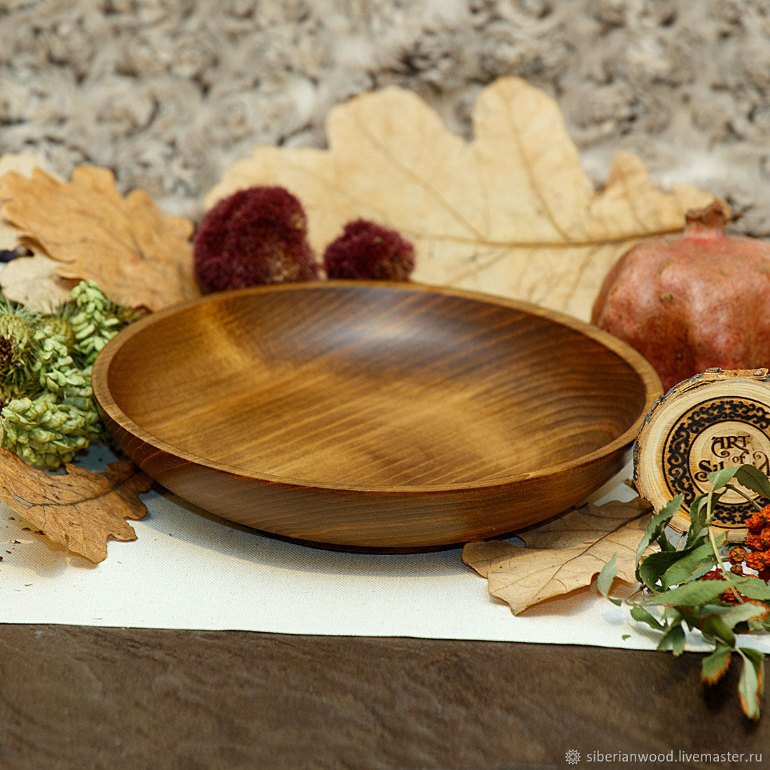 Wooden Plate 19 cm 100%#65, Plates, Novokuznetsk,  Фото №1