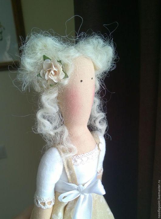 Куклы Тильды ручной работы. Ярмарка Мастеров - ручная работа. Купить Ветер в голове. Handmade. Бежевый, игрушка ручной работы