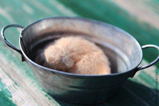Миниатюра ручной работы. Ярмарка Мастеров - ручная работа. Купить щенок-сплюша. Handmade. Бежевый, шерсть