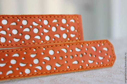 Часы ручной работы. Ярмарка Мастеров - ручная работа. Купить Ремешок на ваши часы №11 А. Handmade. Оранжевый