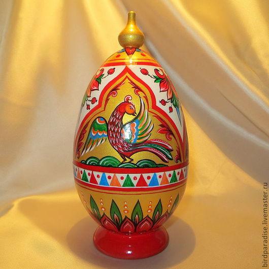 пасхальное яйцо шкатулка расписное деревянное. Пасхальный сувенир. Подарок на Пасху.