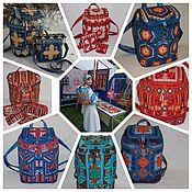 Сумки и аксессуары handmade. Livemaster - original item Backpack patchwork, Women`s,of Textile,Large, urban, Patchwork. Handmade.