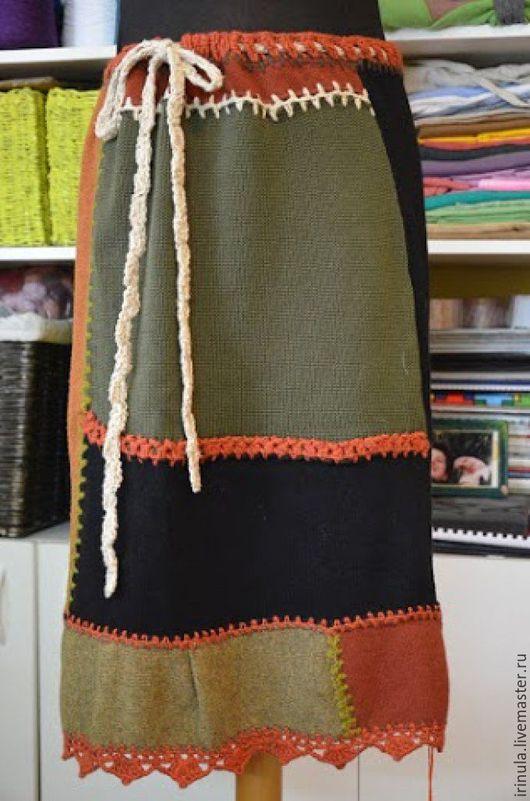 Юбки ручной работы. Ярмарка Мастеров - ручная работа. Купить Трикотажная юбка. Handmade. Комбинированный, абстрактный, юбка длинная