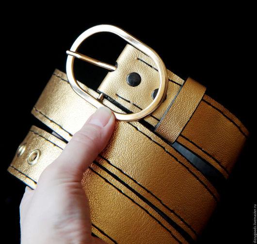 Пояса, ремни ручной работы. Ярмарка Мастеров - ручная работа. Купить Ремень Золото. Handmade. Золотой, узор, подарок