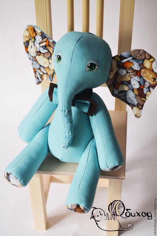 Игрушки животные, ручной работы. Ярмарка Мастеров - ручная работа. Купить Текстильный слоник. Handmade. Тёмно-бирюзовый, игрушка в подарок