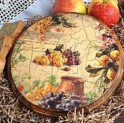 Для дома и интерьера ручной работы. Ярмарка Мастеров - ручная работа Сырная доска Вино и виноград. Handmade.