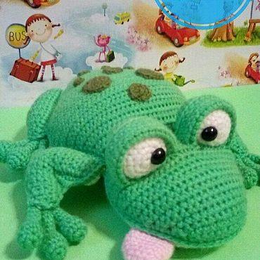 Куклы и игрушки ручной работы. Ярмарка Мастеров - ручная работа Игрушки: Прикольная лягушка. Handmade.