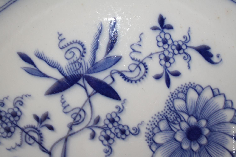 Hand painted large platter of meißen (Meissen), width 38,5 cm, Vintage plates, St. Petersburg,  Фото №1