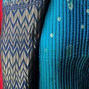 """Одежда ручной работы. Ярмарка Мастеров - ручная работа Стеганая курточка """"Аризонская бирюза в зигЗаговую полоску"""". Handmade."""