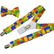 Аксессуары handmade. Livemaster - original item Set KIDS bow tie and suspenders