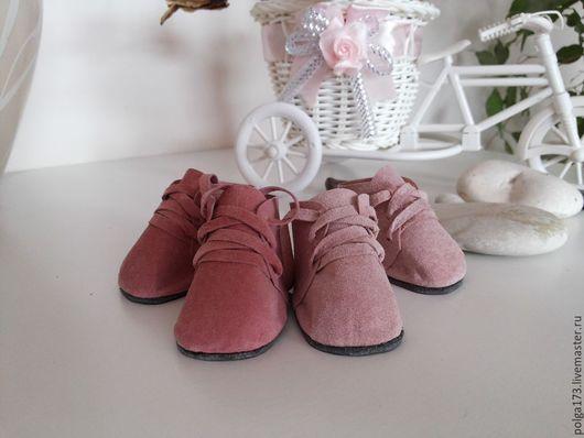 """Одежда для кукол ручной работы. Ярмарка Мастеров - ручная работа. Купить Ботинки для кукол """"розовая мечта"""". Handmade. Бледно-розовый"""