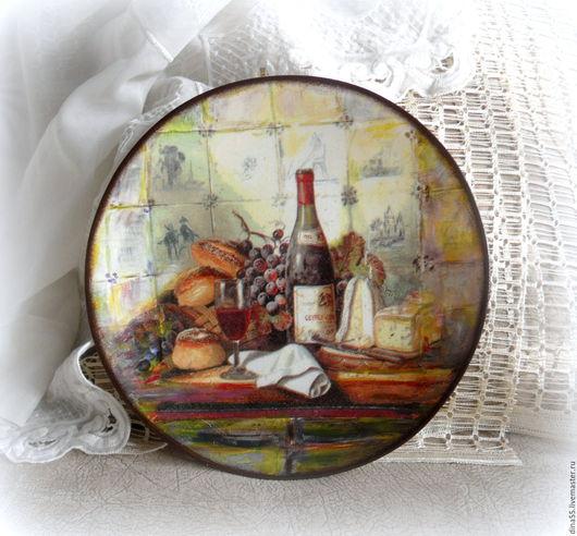Тарелки ручной работы. Ярмарка Мастеров - ручная работа. Купить декоративная тарелка Завтрак в провансе. Handmade. Комбинированный, стиль прованс