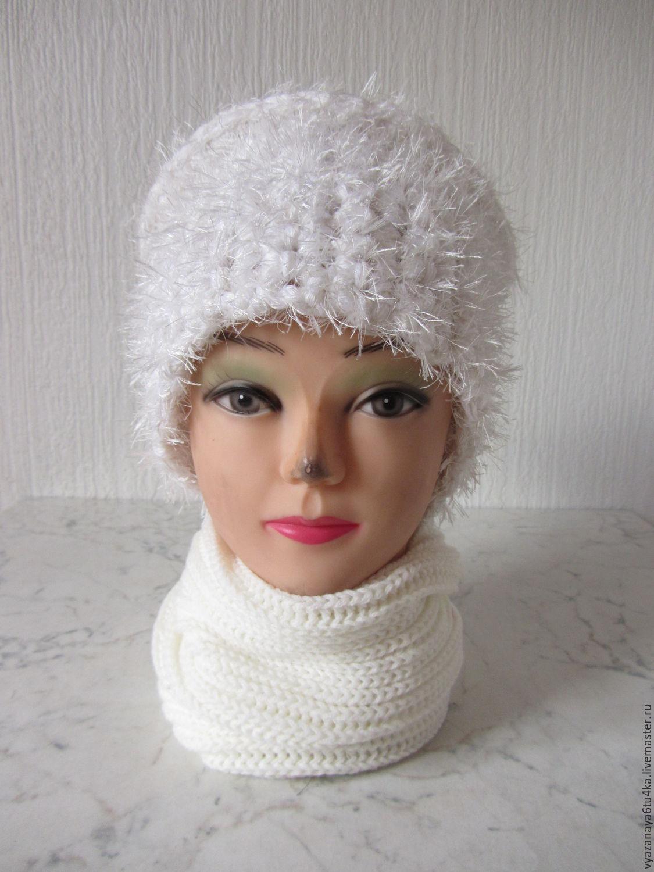 Вязание спицами шапок с травки 55
