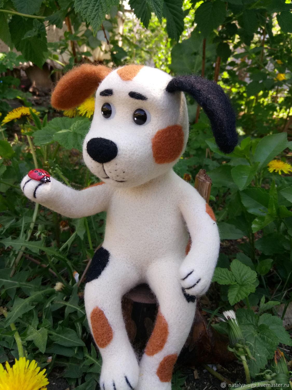 щенок с божьей коровкой, Войлочная игрушка, Барнаул,  Фото №1