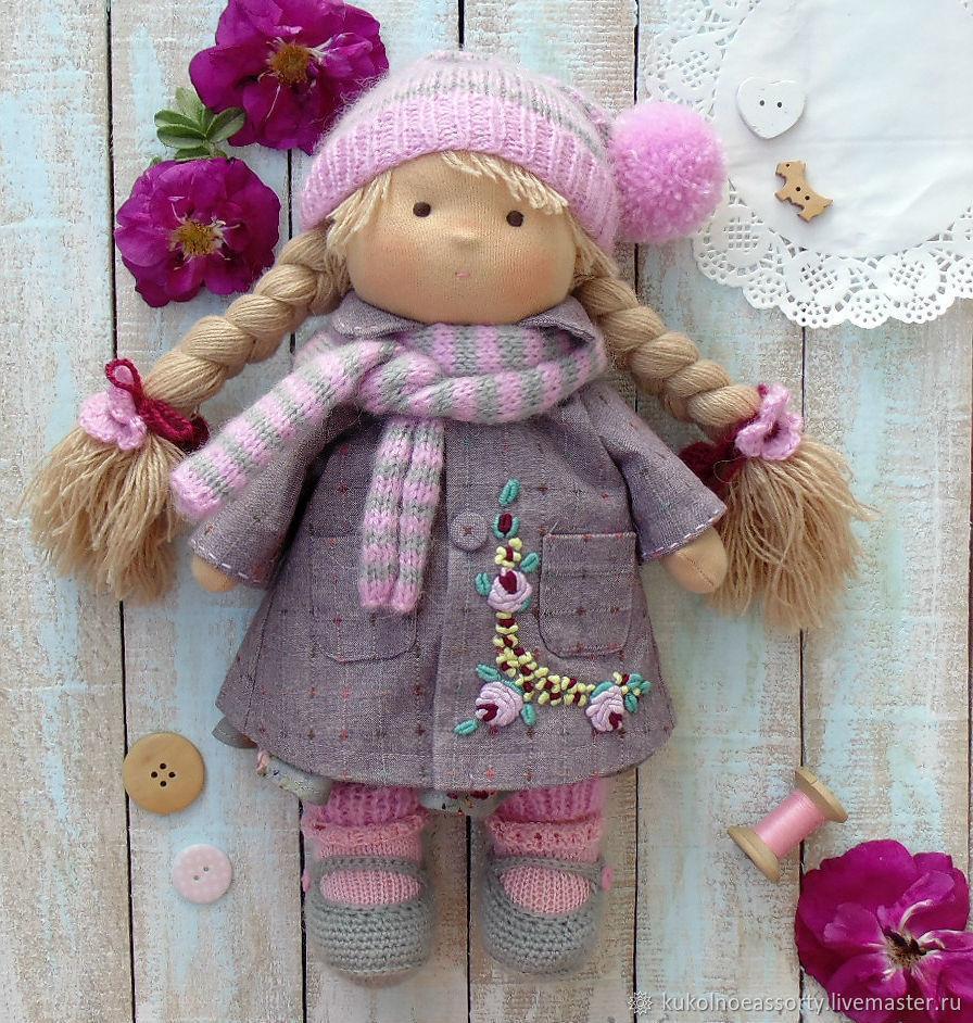 Вальдорфская кукла Розочка 30 см, Вальдорфские куклы и звери, Североуральск,  Фото №1