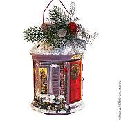"""Подарки к праздникам ручной работы. Ярмарка Мастеров - ручная работа Подсвечник-фонарь """"Снежный домик"""". Handmade."""