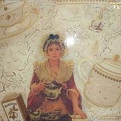"""Для дома и интерьера ручной работы. Ярмарка Мастеров - ручная работа Коробка для чая """"Файв о клок"""". Handmade."""