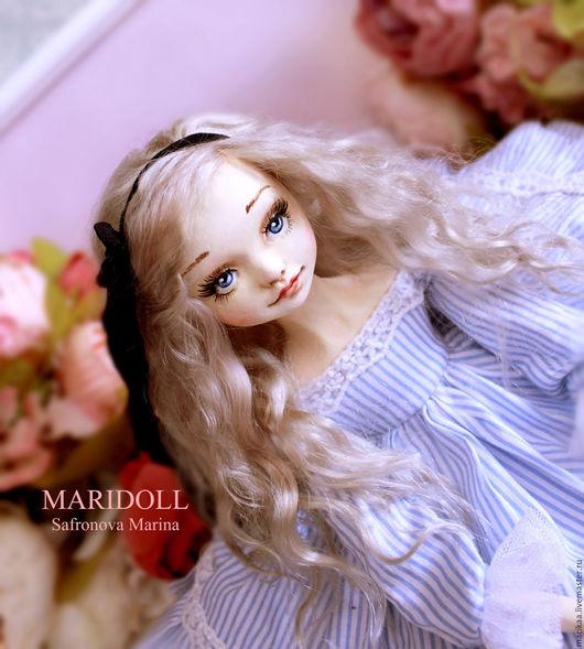 Коллекционные куклы ручной работы. Ярмарка Мастеров - ручная работа. Купить Будуарная кукла Алиса. Handmade. Подарок девушке, хлопок
