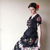 Одежда ручной работы. Ярмарка Мастеров - ручная работа Копия работы Вышитое платье Графиня роз. Handmade.