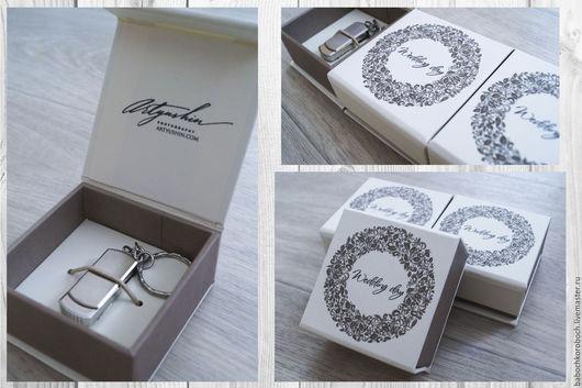 Подарочная упаковка ручной работы. Ярмарка Мастеров - ручная работа. Купить коробочка для флешки. Handmade. Белый, коробочка, переплётный материал