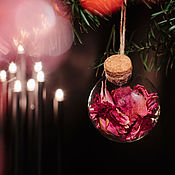 Подарки к праздникам ручной работы. Ярмарка Мастеров - ручная работа Зачарованный Ёлочный шар «Благородный». Handmade.