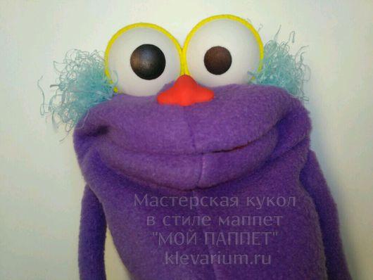 """Кукольный театр ручной работы. Ярмарка Мастеров - ручная работа. Купить Перчаточная кукла - игрушка на руку в стиле МАППЕТ """"ФУРЗИ"""". Handmade."""