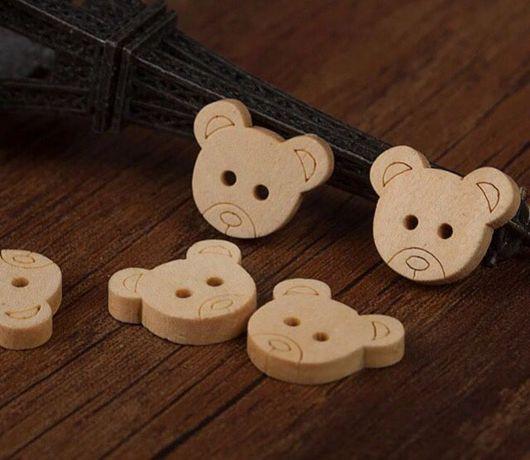 Шитье ручной работы. Ярмарка Мастеров - ручная работа. Купить Пуговицы мишки. Handmade. Пуговица, пуговицы декоративные, пуговицы для шитья