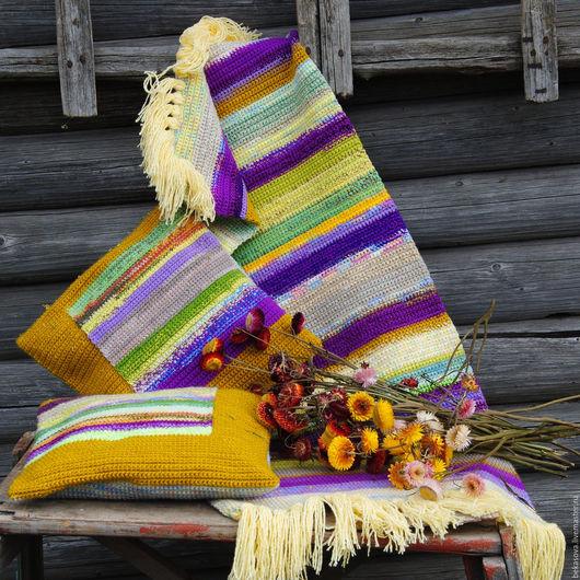 """Текстиль, ковры ручной работы. Ярмарка Мастеров - ручная работа. Купить Комплект коврик и подушки """"Прованс"""". Handmade. Коврик, счастье"""