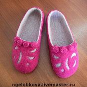 """Обувь ручной работы. Ярмарка Мастеров - ручная работа Тапочки """"Розочки"""". Handmade."""
