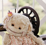 Куклы и игрушки ручной работы. Ярмарка Мастеров - ручная работа Ева-обезьянка. авторский тедди ручной работы. Handmade.