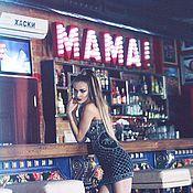 Одежда ручной работы. Ярмарка Мастеров - ручная работа Черное платье расшитое бусинами. Handmade.