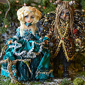 Куклы и игрушки ручной работы. Ярмарка Мастеров - ручная работа Красавица и Чудовище. Handmade.