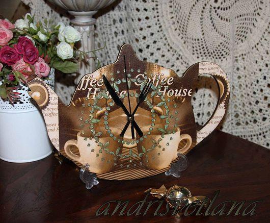 """Часы для дома ручной работы. Ярмарка Мастеров - ручная работа. Купить Часы-чайник """"Кофейное безвременье"""". Handmade. Часы"""