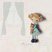 """Украшения ручной работы. Ярмарка Мастеров - ручная работа Брошь-девочка """"Настя"""". Handmade."""