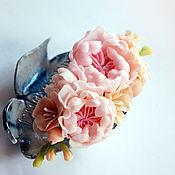 """Свадебный салон ручной работы. Ярмарка Мастеров - ручная работа Гребень для свадебной прически """"Пастель"""". Handmade."""