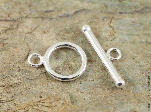 Для украшений ручной работы. Ярмарка Мастеров - ручная работа. Купить 521С Замок тогл из серебра 925 пробы. Handmade.
