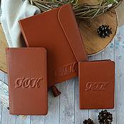 Набор руководителя-ежедневник, визитница, обложка для паспорта