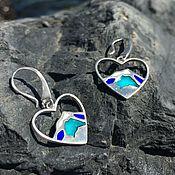 Украшения handmade. Livemaster - original item The mountain earrings in sterling silver with enamel. Handmade.