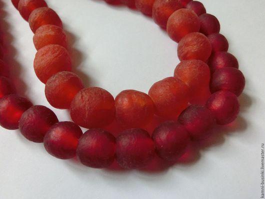 Для украшений ручной работы. Ярмарка Мастеров - ручная работа. Купить Африканские Кробо бусины из Ганы оранж, бордовые. Handmade.